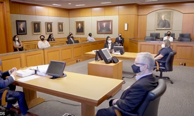 "Courts in Harris County are conducting in-person jury trials. The courts' video, ""Justice Requires Jurors,"" shows what trials look like with COVID-19 precautions. (Photo: Harris County District Courts)"