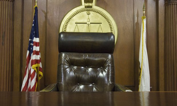 empty judge's bench. Photo: Shutterstock