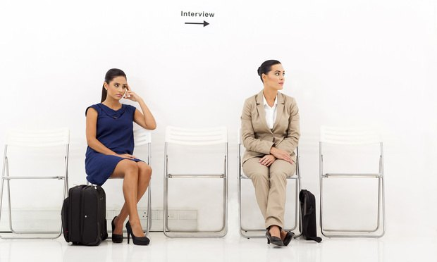 women waiting for interview