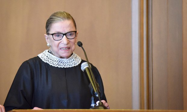 Justice Ruth Bader Ginsberg of the U.S. Supreme Court.