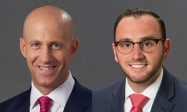 David F. Stern, left, and Taylor J. Cohen, right, of Pond Lehocky Stern Giordano