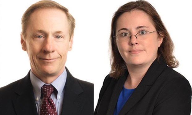 Francis J. Lawall, left, and Kate Mahoney, right, of Pepper Hamiliton.