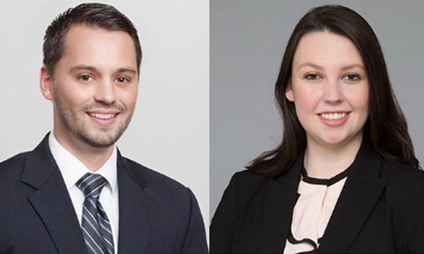 Tyler Marandola, left, and Jenna M. Loadman, right, of Ballard Spahr.
