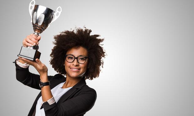 Trophy-Winner award, smiling, smile, happy