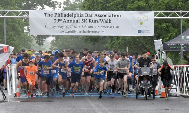 <i>Runners start the Philadelphia Bar Association's 39th annual 5K Run/Walk on May 20. Photo: Tracy Buchholz</i>