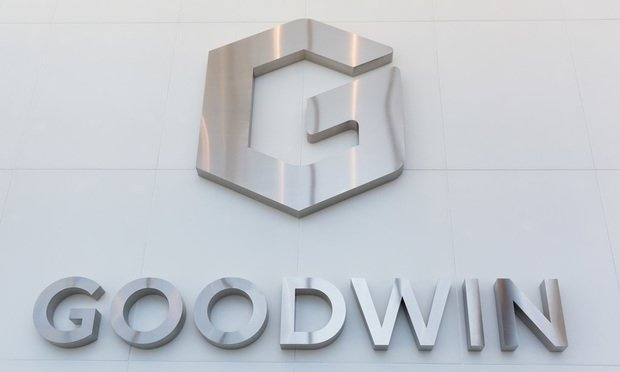 Goodwin Procter, logo, name, sign, office, signage
