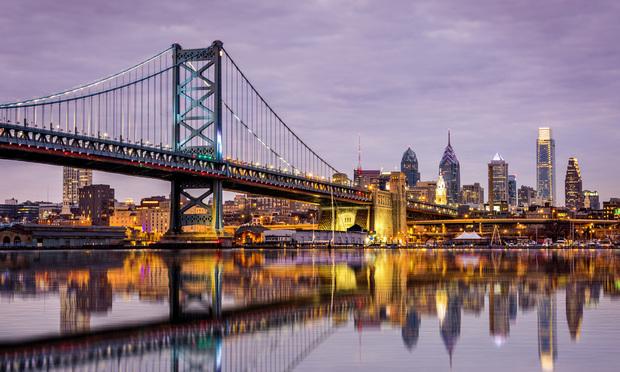 Benjamin Franklin bridge in Philadelphia.