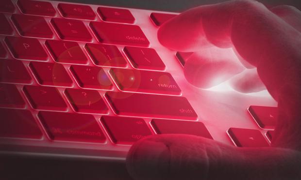 Keyboard red light