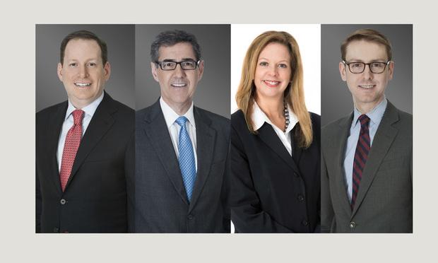 (l-r) Fred Karlinsky, Richard Fidei, Julie McPeak, and Jamey Zellner of Greenberg Traurig.