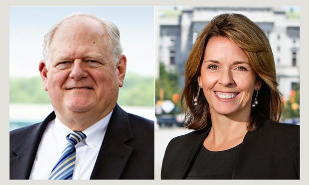 Jay Layman of Capital Associates and Kathleen Duffy Bruder of McNees Wallace & Nurick