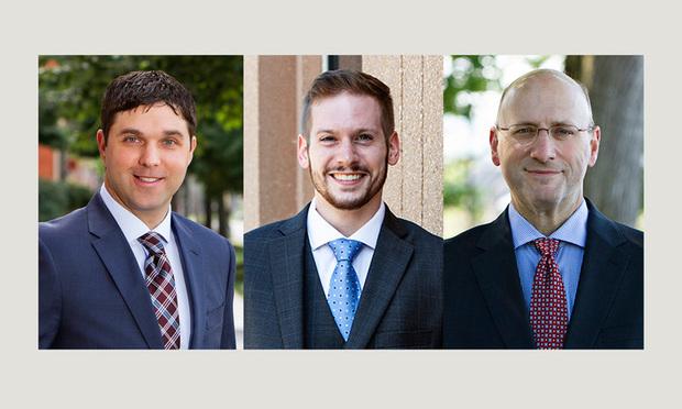 L-R: Stephen J. Matzura, Errin T. McCaulley, Jr., and Scott A. Gould of McNees Wallace & Nurick.