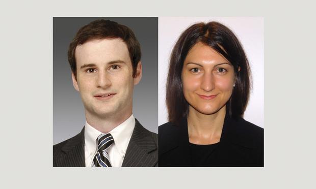 Taylor Rosanova, left, and Gloria Vasconcellos, right, of Marcum LLP.