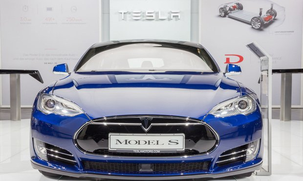 European debut of the Tesla model S P90D at the IAA 2015. Credit: VanderWolf Images/Shutterstock.com