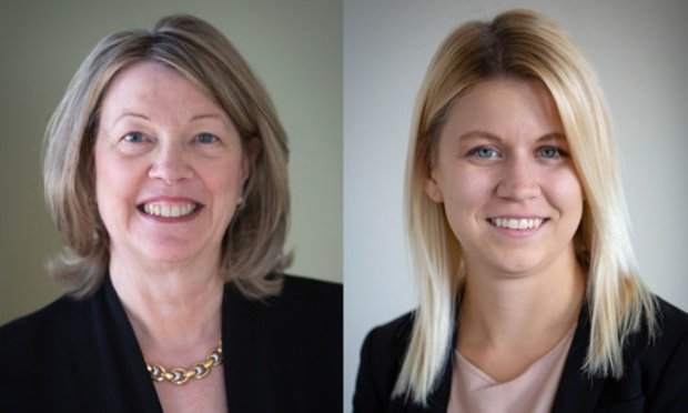 Laura Foggan, left, partner and Rachael Padgett, right, associate with Crowell & Moring.