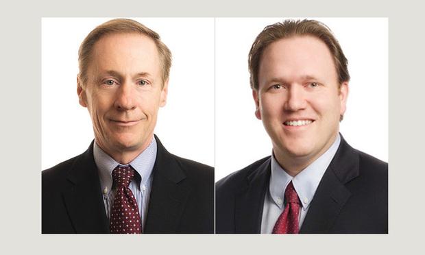 L-R Francis Lawall and John Henry Schanne, Pepper Hamilton.