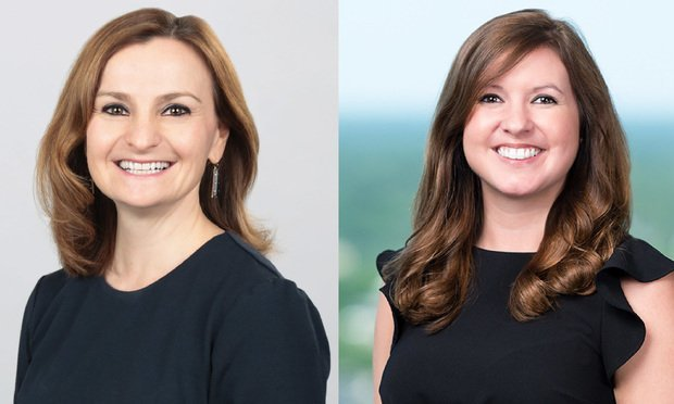 Ioana Good, left, senior business development and communications manager at Lowndes, and Jessica Haarsgaard, right, business development manager at Burr & Forman.