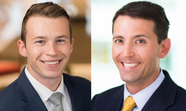 Ryan Kelly, left, and Stephen Miller, right, of Cozen O'Connor.