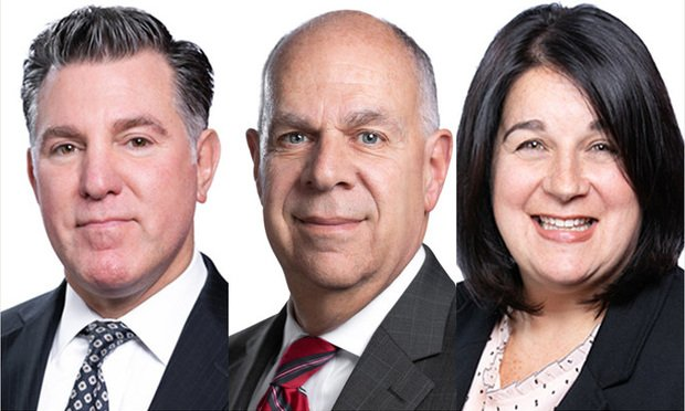 William Spiegel, Marc Leffler and Robyn Goldfarb of Rawle & Henderson.