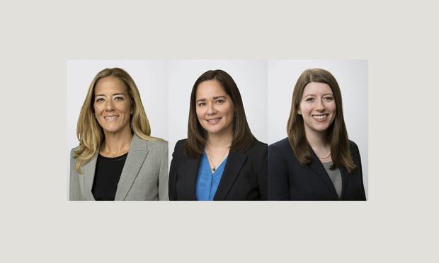 (l-r) Christina Tellado, Deisy Castro, and Dana Feinstein of Holland & Knight.