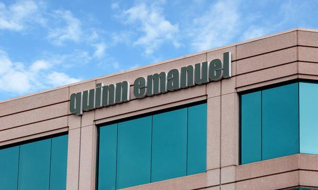 Quinn Emanuel sign, logo