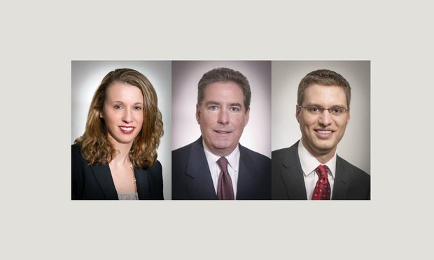 (l-r) Andrea Kirshenbaum, James Malone, and David Renner, of Post & Schell.