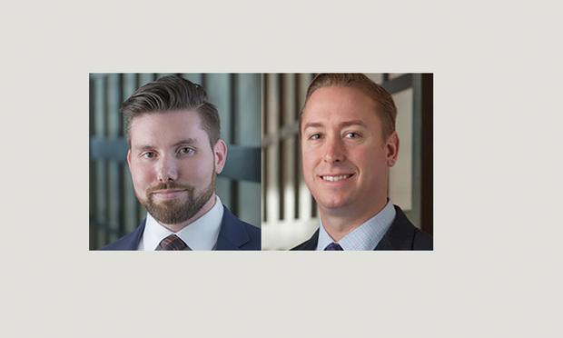 Joseph Wolfe, left, and Michael Bartow, right, of DLA Piper.