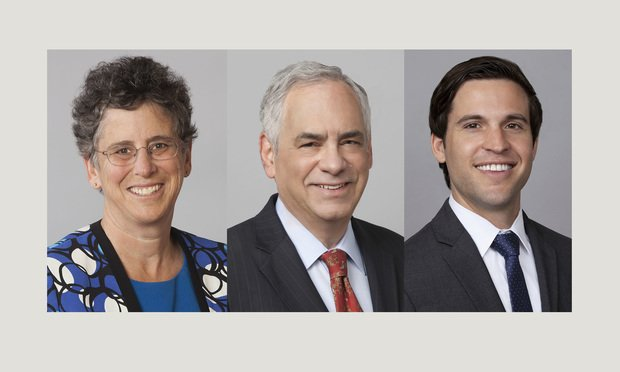 (l-r) Marjorie Peerce, Eugene Licker, and Heath Khan of Ballard Spahr.