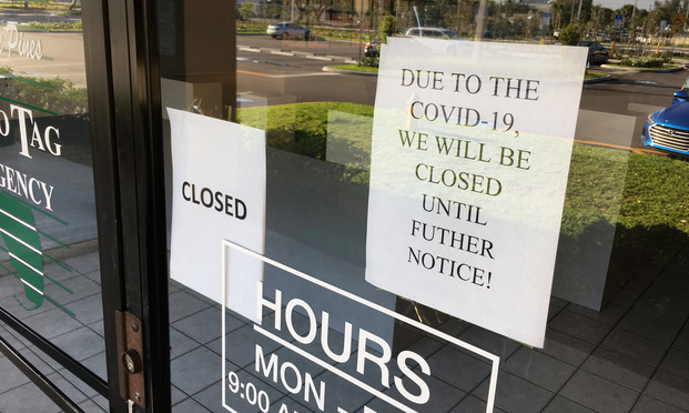 Store closed due to the COVID-19 outbreak
