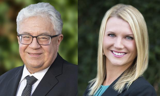 Vasilios J. Kalogredis, left, and Rachel E. Lusk Klebanoff, right, of Lamb McErlane.