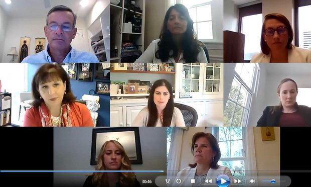 The Legal Intelligencer's 2020 Women in Law Roundtable discussion was held on August, 27 2020 via Zoom. Courtesy photo