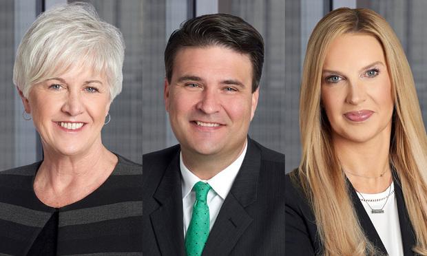 Cathy Gordon, Ed Smallwood and Kelly Smith