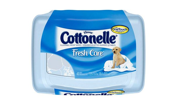 Cottonelle Wipes, made by Kimberly-Clark