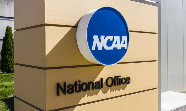 NCAA headquarters sign