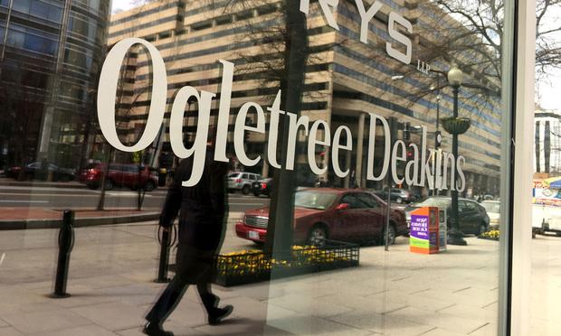 Ogletree Deakins sign.