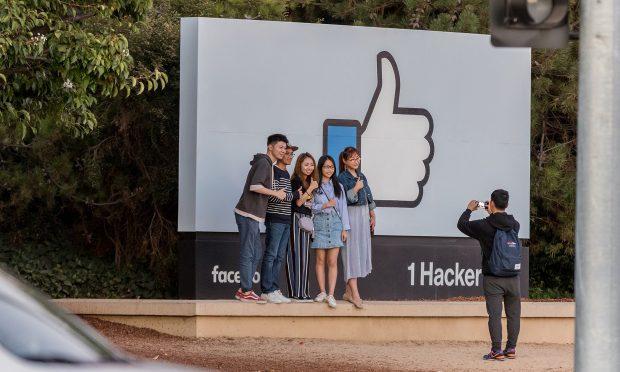 <i>Headquarters for social networking company Facebook Inc. in Menlo Park California. (Photo: Jason Doiy/ALM)</i>