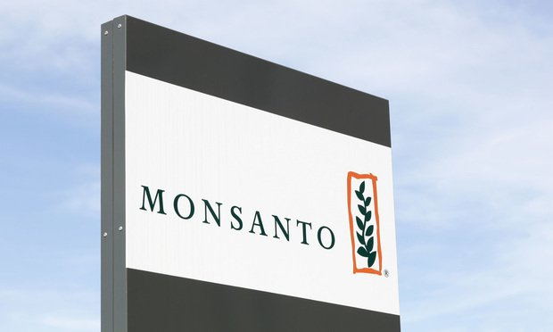 October 7, 2017: Monsanto logo on a panel. Monsanto company is a publicly traded American multinational agrochemical and agricultural biotechnology corporation