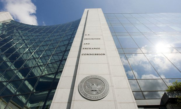 The U.S. Securities and Exchange Commission building in Washington. (Photo: Diego M. Radzinschi/ALM)