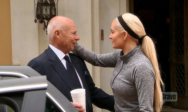 "Tom Girardi and his wife Erika Jayne during the episode ""Horsing Around"" of the Bravo television show The Real Housewives of Beverly Hills."