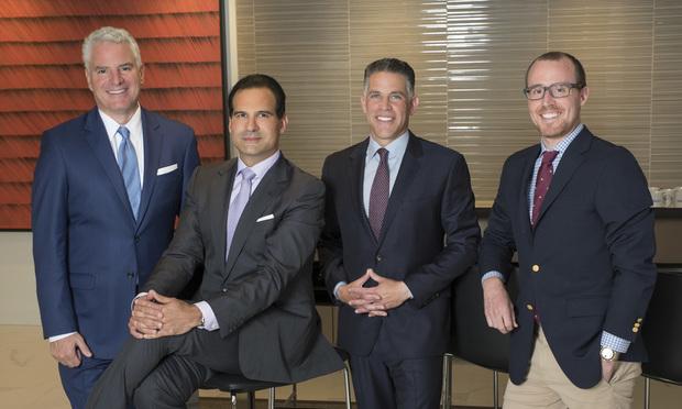 Dan Clivner, Mehdi Khodadad, Eric Kauffman and Joshua DuClos, partners at Sidley Austin.