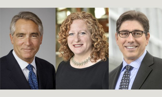 Stephen Ferruolo of the University of San Diego, Jennifer Mnookin of UCLA, and David Faigman of UC Hastings.