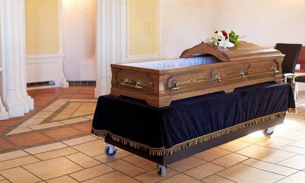 Open coffin