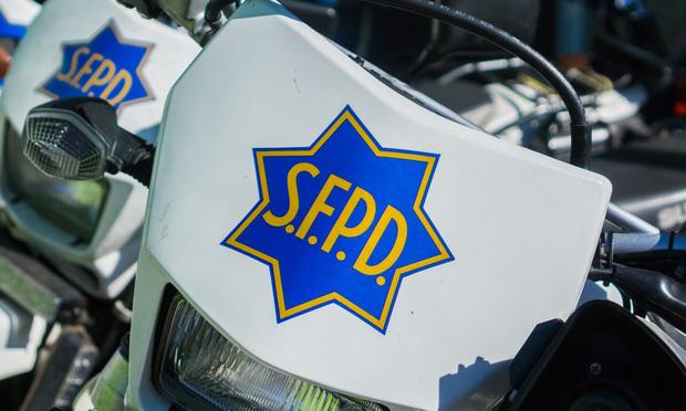 SFPD motorcycles.