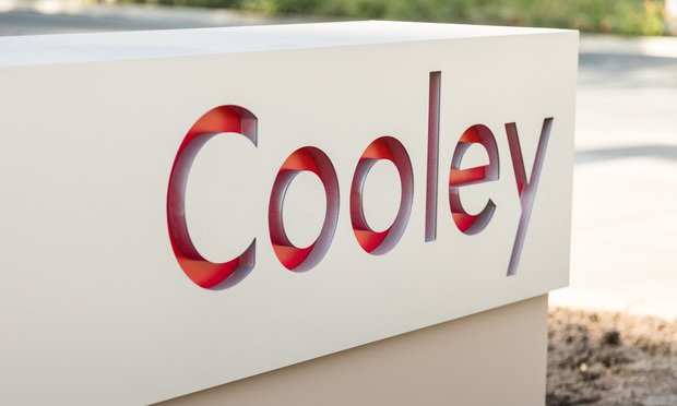 Sign for the Cooley law firm.