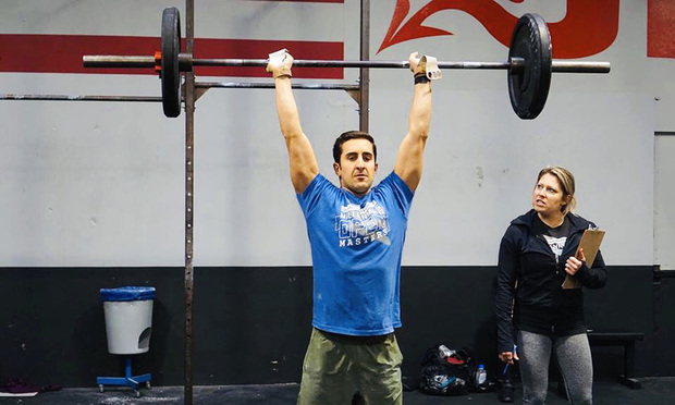 Payam A. Saljoughian senior counsel of Hanson Bridgett during workout session.