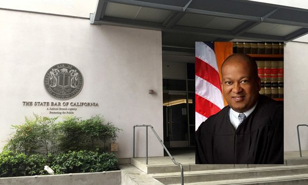 Justice Jeffrey Johnson and the State Bar of California at 845 S Figueroa in Los Angeles