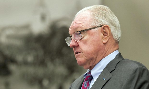 Plaintiff's attorney Ed Chapin, standing, gave his opening statement on Tuesday, August 20th, in the civil suit of 22 women against defendant girlsdoporn.com who say they were coerced into taking parts in filmed sex scenes under false pretenses. .