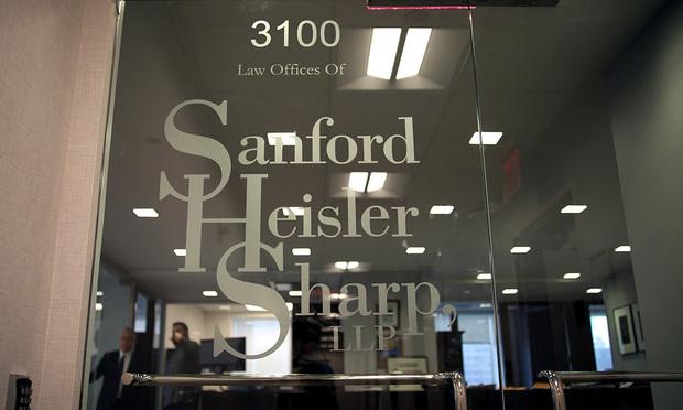 Sanford Heisler Sharp office sign.