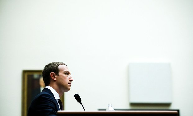 Facebook CEO Mark Zuckerberg testifies before the House Financial Services Committee, on Wednesday, October 23, 2019.
