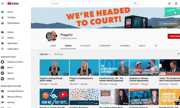 Prager University's YouTube videos.