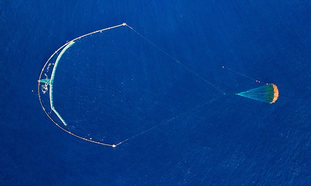 The Ocean Cleanup's System 001, aka Wilson, launched in the Pacific Ocean in fall 2018 (Photo: The Ocean Cleanup)